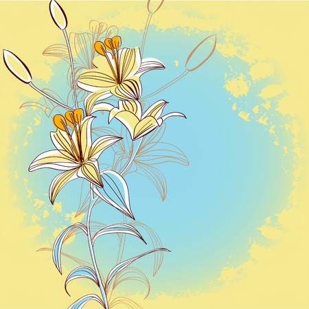 Retro stylized background with flowers Stock Vector - 8216763