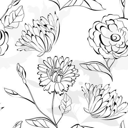 Floral seamless wallpaper Stock Vector - 8380468
