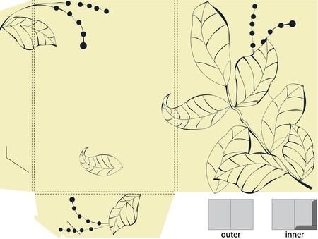 Template for decorative folder Vector