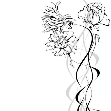Sketch with flowers Stock Vector - 8557851