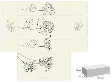die: Decorative template for box design