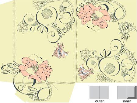 folder design: Decorative template for folder design Illustration