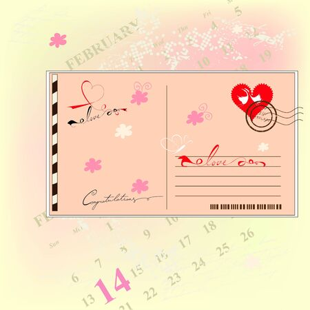 Valentine's day card Stock Vector - 8606805