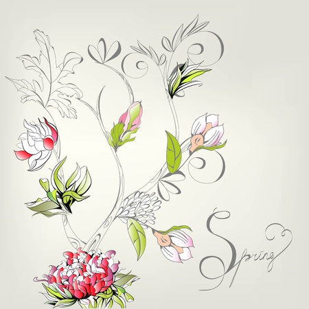 pion: Spring decorative card