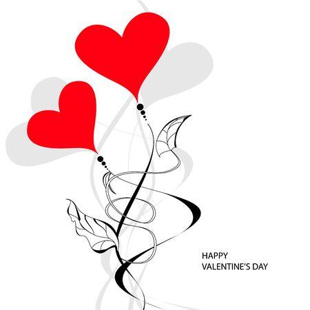 postcard background: Valentines day card Illustration