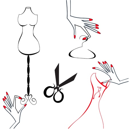 haute couture: Atelier  Illustration