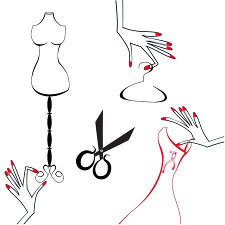 haute couture: Atelier  Illustration