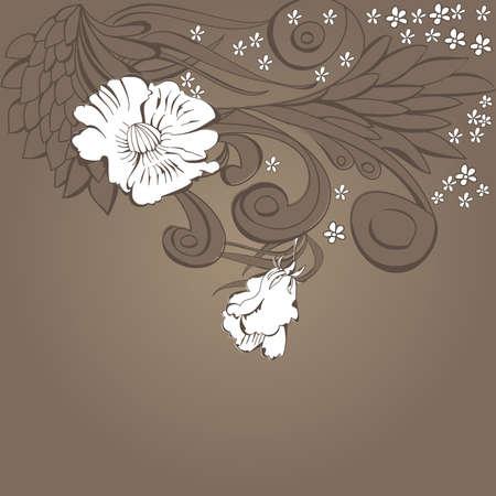 Original floral background Vector