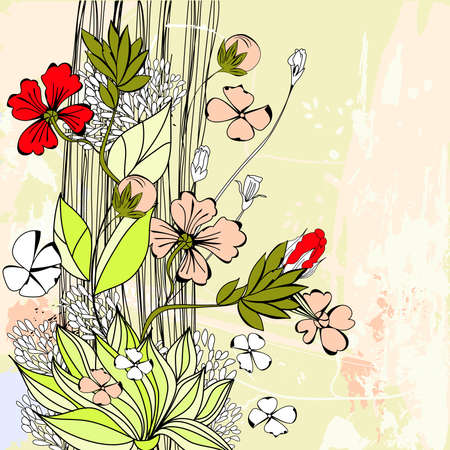 Floral background Stock Vector - 8743137