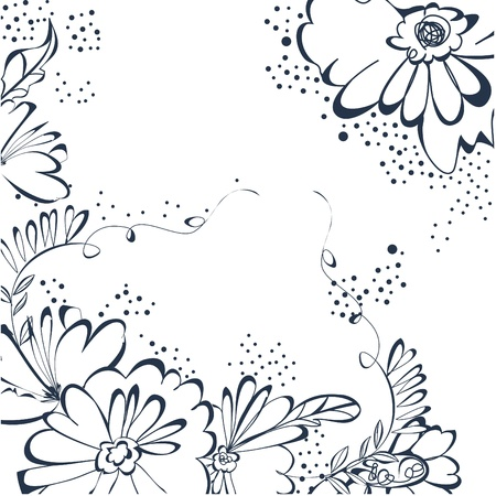Background with floral element Stock Vector - 8743185