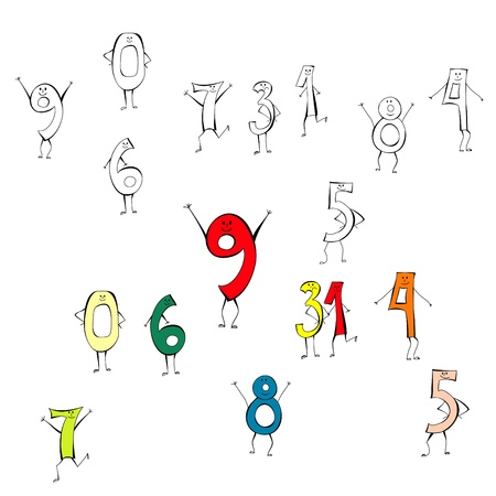 Happy numbers Stock Vector - 8874337