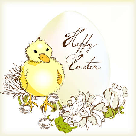 Easter card   Stock Vector - 8874348