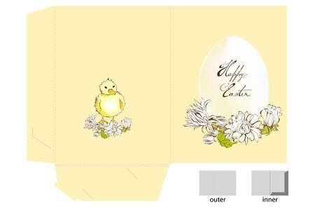 Easter folder Vector