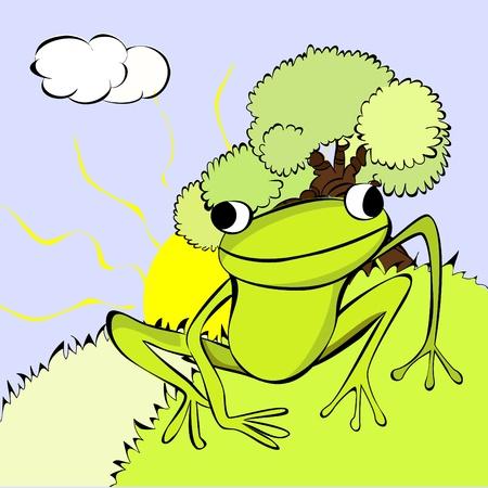 Green Frog Stock Vector - 8874339