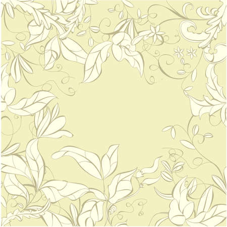 Background with floral element Vector