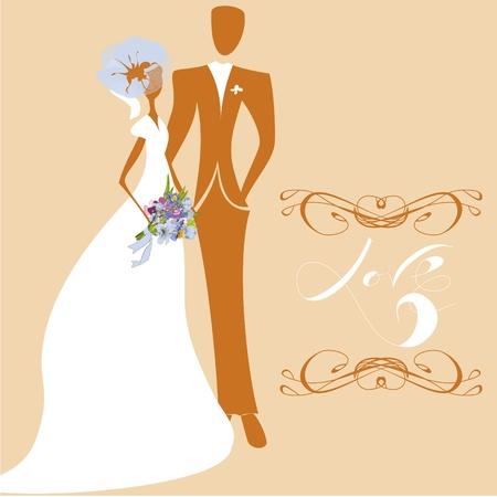 Wedding card with inscription LOVE Stock Vector - 8959629