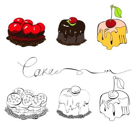custard flavor: Set of cakes
