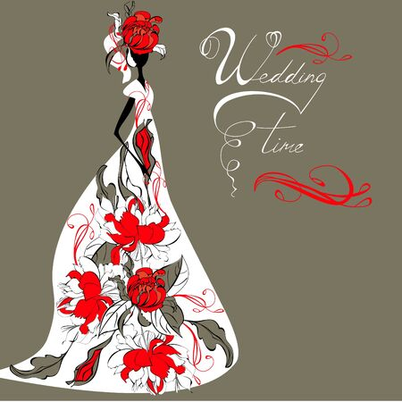 Template for wedding card  Vector