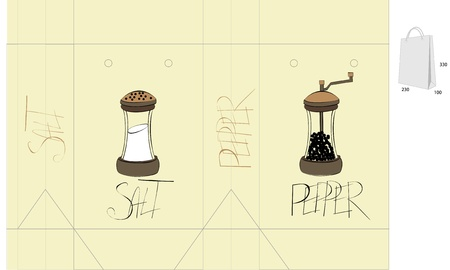 pepper grinder: Template for bag