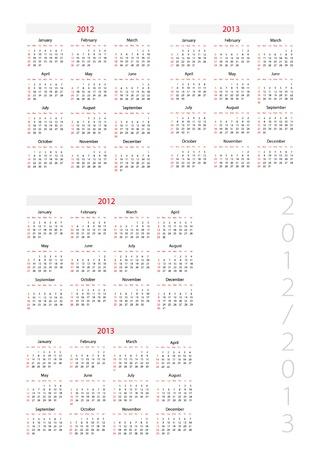 next year: Template foe calendar 2012-2013