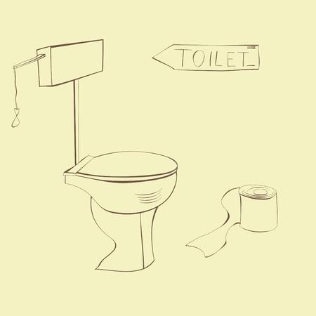 toilet Stock Vector - 9077938