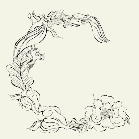 decorative elements: Decorative font, Letter C