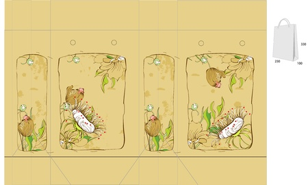 Vintage template for bag with flowers Stock Vector - 9229342