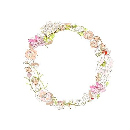 flower font: Spring floral font, Letter O Illustration