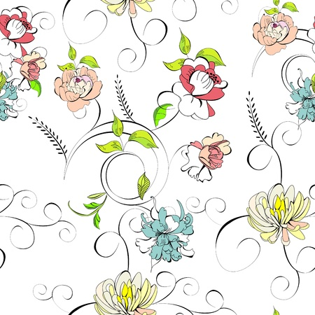 Stylized seamless wallpaper Stock Vector - 9326320