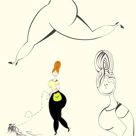 plus size: Illustration of woman