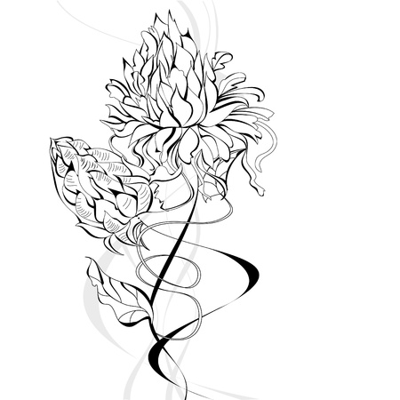 Sketch with flowers Stock Vector - 9611370