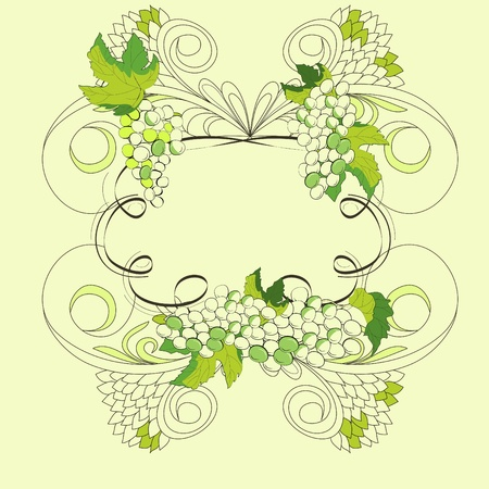 Stylized frame with floral element  Vector
