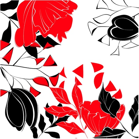 Contrast floral background Stock Vector - 9685158