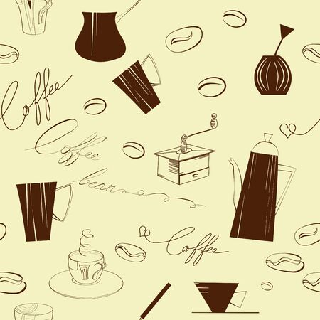 grind: Seamless background with element of coffee ceremony