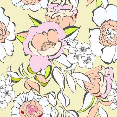 backdrop: Decorative seamless wallpaper  Illustration