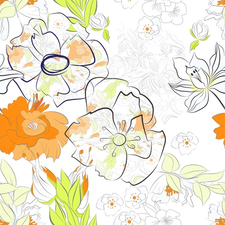 Floral seamless background Stock Vector - 9931014