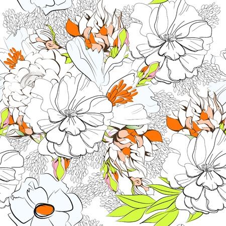 floral seamless: Summer seamless wallpaper