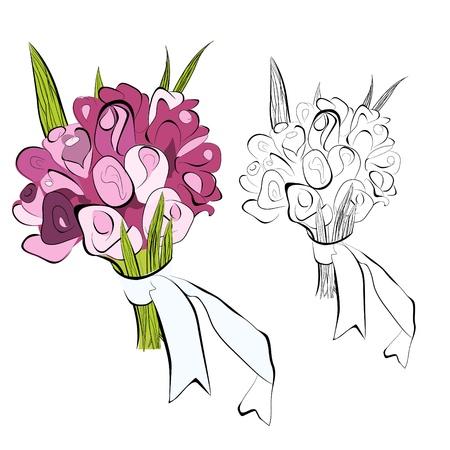 Bunch of flowers Stock Vector - 9935801