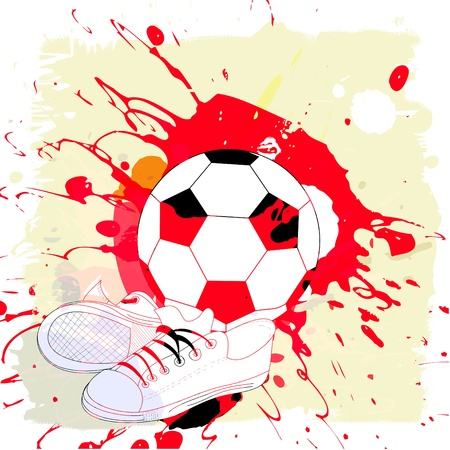 football shoes: Abstract background with football pattern