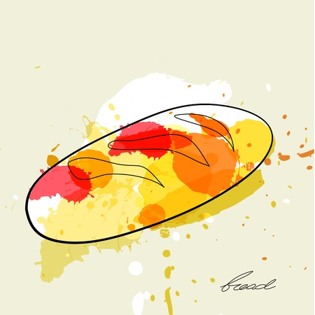 Stylized illustration of bread Vector
