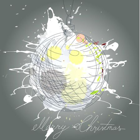 Stylized christmas card  Vector