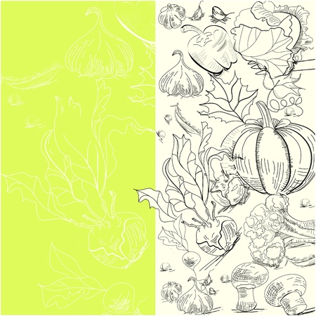 Background with vegetables Stock Vector - 10069501