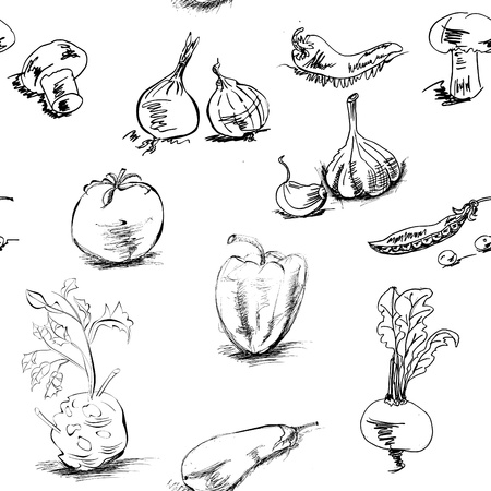 beets: Seamless background with vegetables