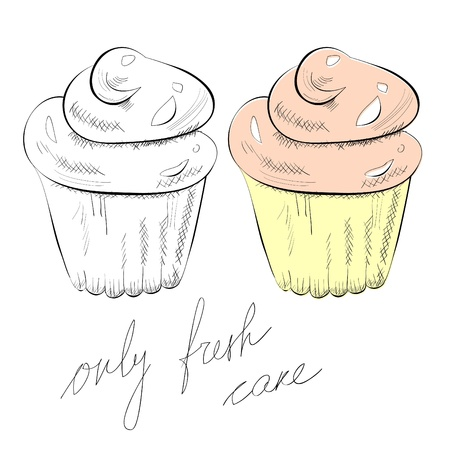 Illustration of cupcake Stock Vector - 10406329