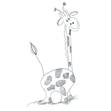 Illustration of giraffe Vector