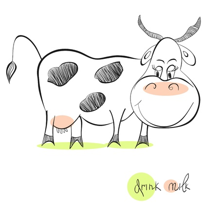 cows grazing: Illustration of cow Illustration