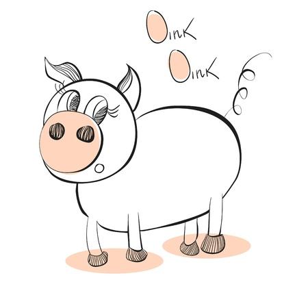 Illustration of pig Vector