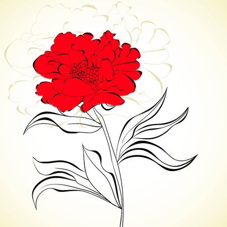 Red beautiful flower Vector