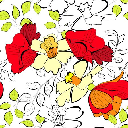 Floral seamless wallpaper  Stock Vector - 10532299