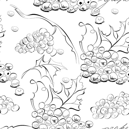 grape juice: Seamless wallpaper with grapes